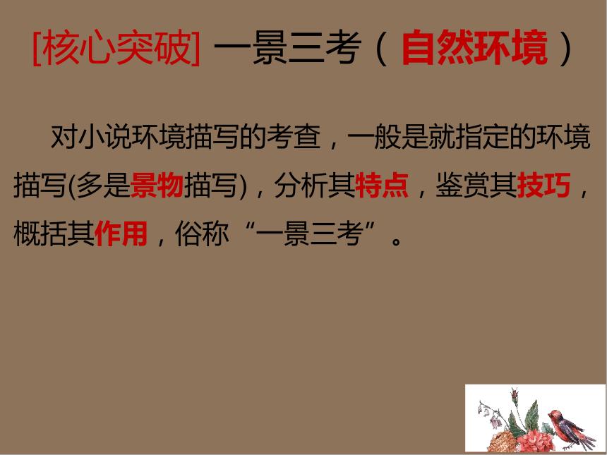2022届高考专题复习:小说——环境描写(课件27张PPT)