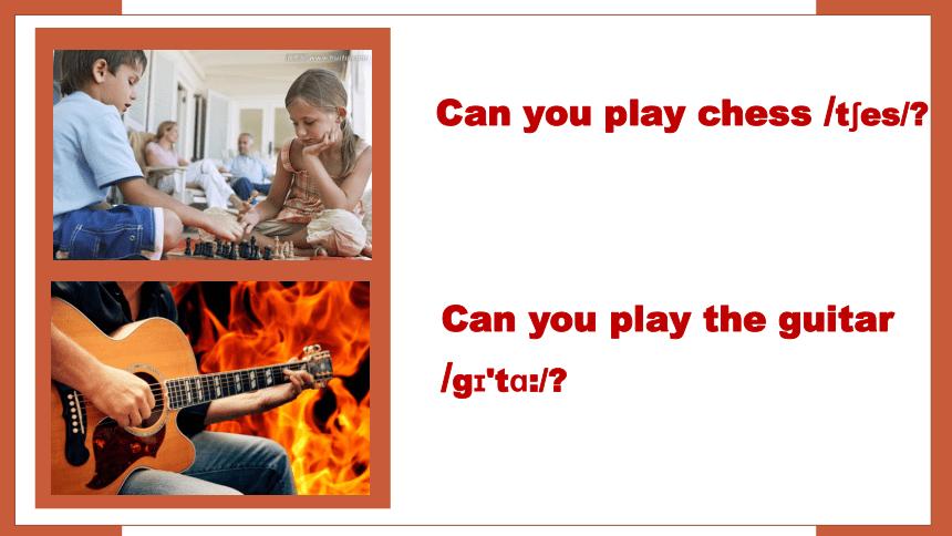 七年级下英语Unit 1 Can you play the guitar? Section A 1a-2c课件27张