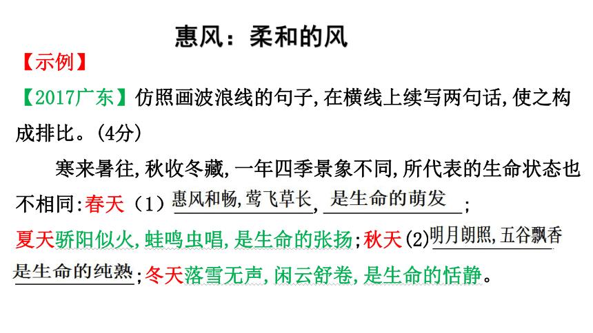 2020-2021中考之仿写句子 课件(幻灯片24张)