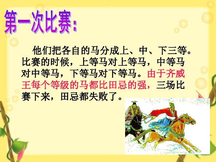 5.17 田忌赛马课件 语文A版 (共22张PPT)