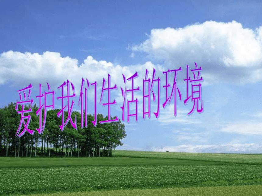 爱护我们生活的环境课件(22张幻灯片)