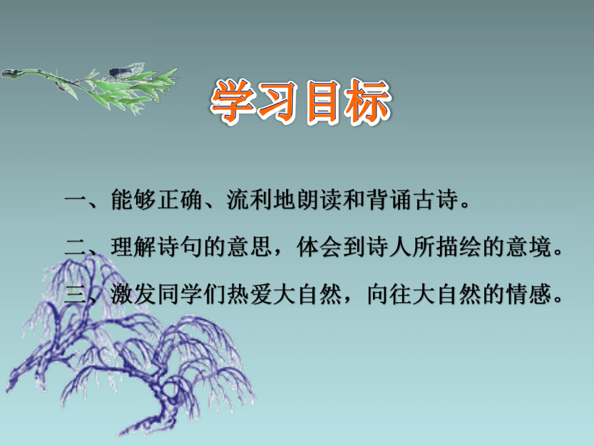 部编版二年级语文下册 1古诗二首 咏柳   课件 (共23张PPT)