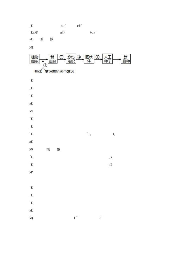 2021年湖北省高考压轴模拟卷 生物  Word版含解析