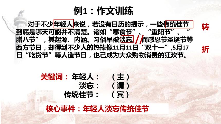 2022届高考材料作文审题立意方法训练 课件(80张PPT)