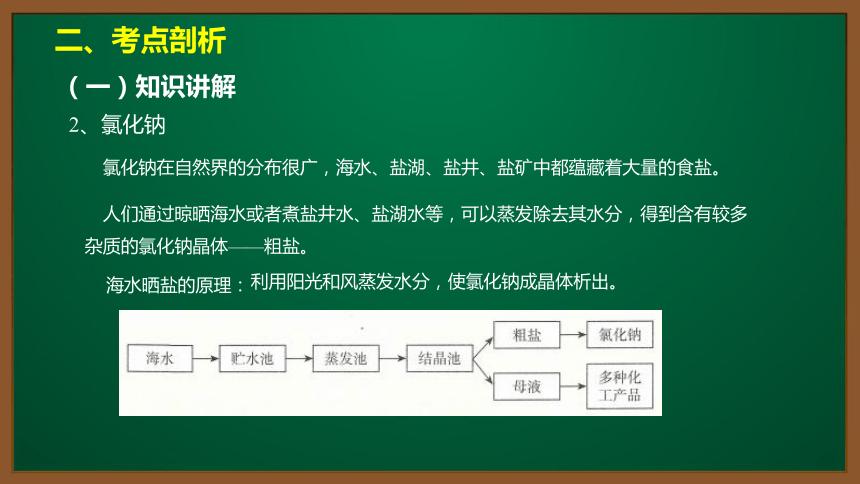 人教版化学九下同步精讲课件   11.1.1氯化钠、碳酸钠、碳酸氢钠和碳酸钙(14张ppt)