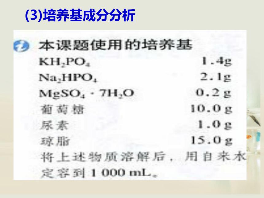 人教版选修一高中生物《第二章 第二节 土壤中分解尿素的细菌的分离与计数》课件(31张PPT)