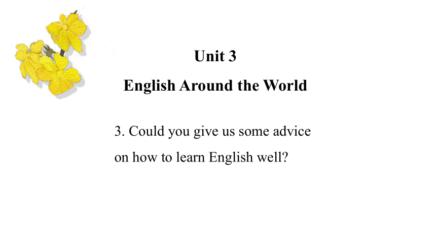 Unit3 Topic3 Could you give us some advice on how to learn English well课件(72张)