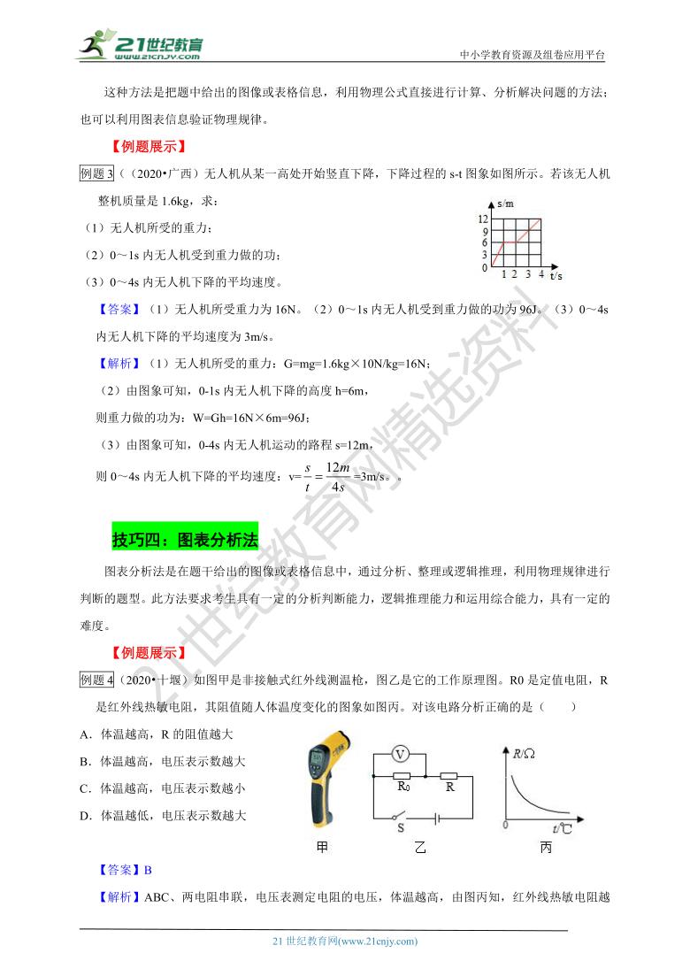 【备考2021】中考物理题型解读与技巧点拨专题二 图像表格类题解题技巧 (学案+跟踪训练+解析卷)(全国版)