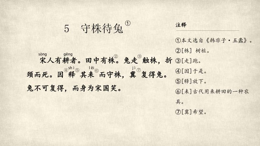 5 守株待兔 (共35张PPT)