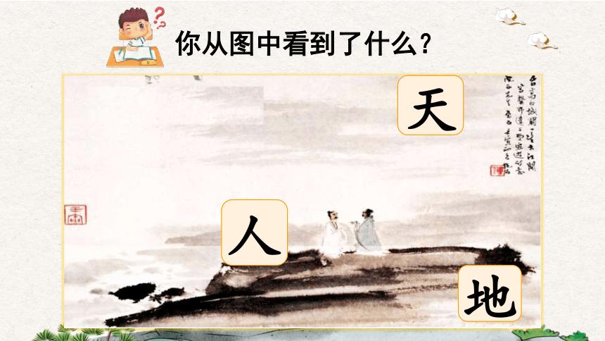 识字1 天地人 课件(33张)