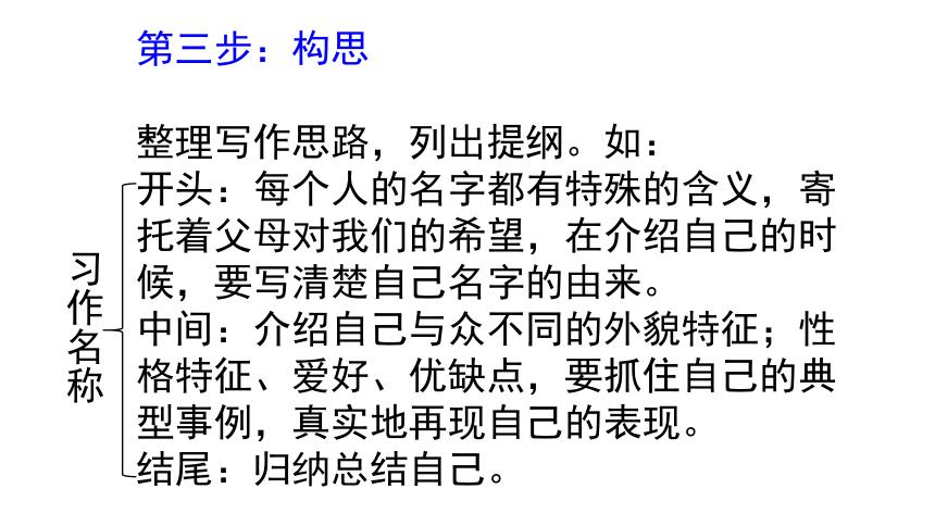"""人教部编版四年级下册语文第七单元习作:我的""""自画像""""  课件(共14张PPT)"""