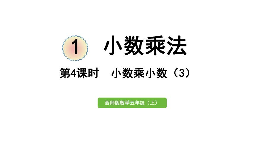 西师大版数学五年级上册一 小数乘法第4课时 小数乘小数(3)课件(24张PPT)