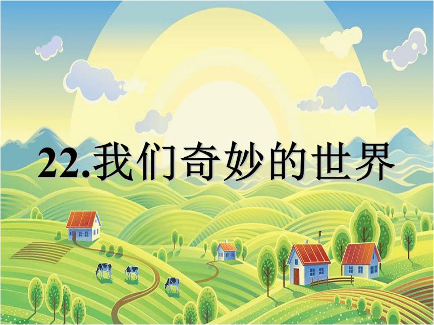 22《我们奇妙的世界》 课件(共19张PPT)