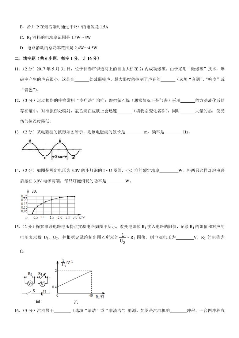 2021年江苏省宿迁市中考物理一模试卷(pdf +答案)