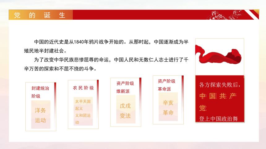 学党史 知党情 跟党走  党史主题班会 课件(19ppt)