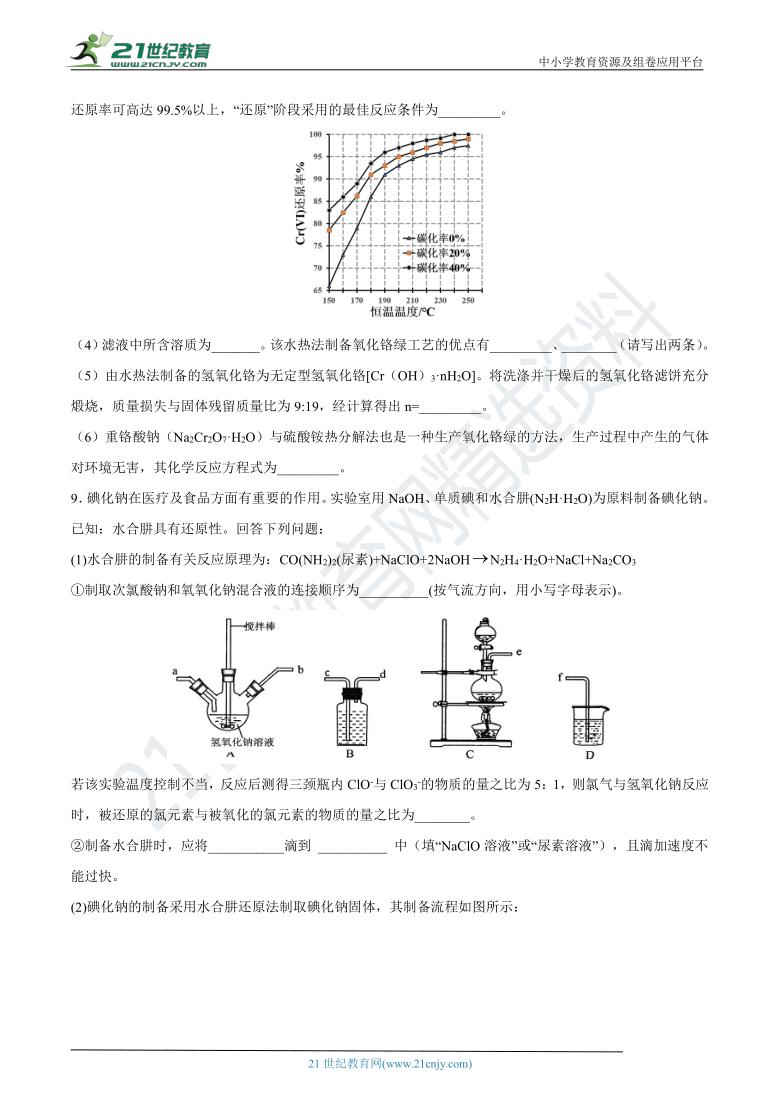 成功之路系列-2021年高考化学一轮复习检测卷10(含解析)