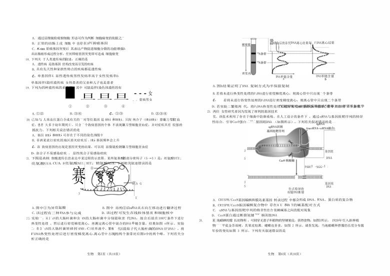 安徽省合肥市六校2020-2021学年高一下学期期末考试生物试题(Word版含答案)