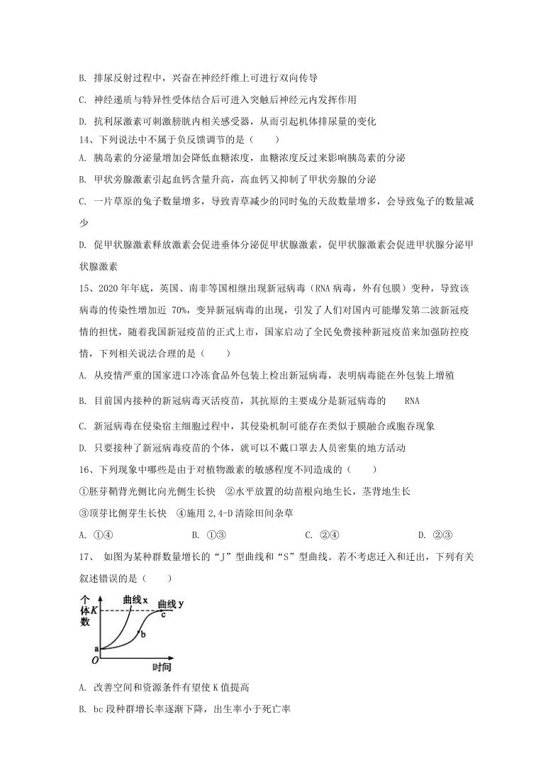 2021年 重庆市高考压轴模拟卷 生物  答案含解析