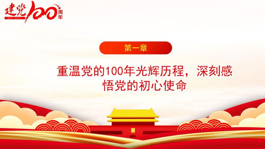 主题班会:中国共产党100周年 课件(35ppt)