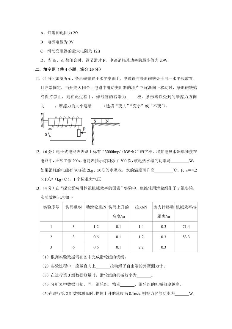 2021年黑龙江省大庆市中考物理模拟试卷(一)有答案