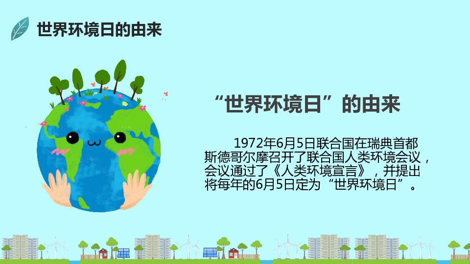 小学班会课件-六年一班环境教育主题班会 (共22张PPT)  通用版