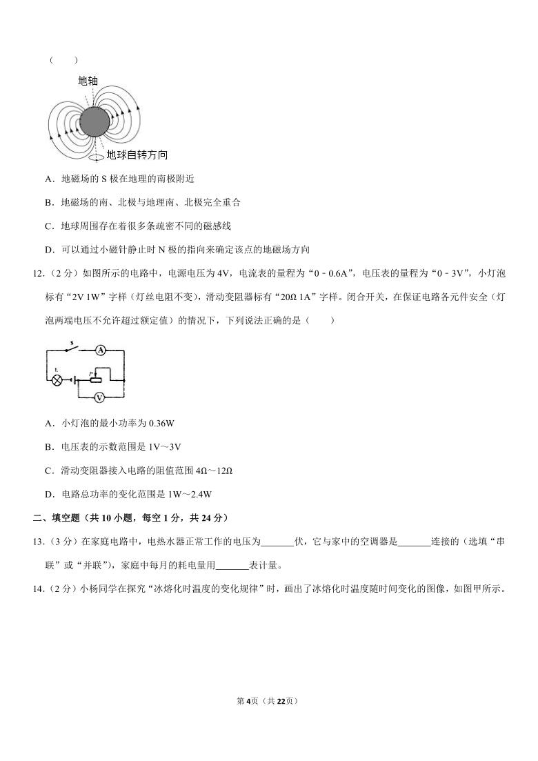 2021年江苏省泰州市姜堰区四校联考中考物理一模试卷(pdf+答案)