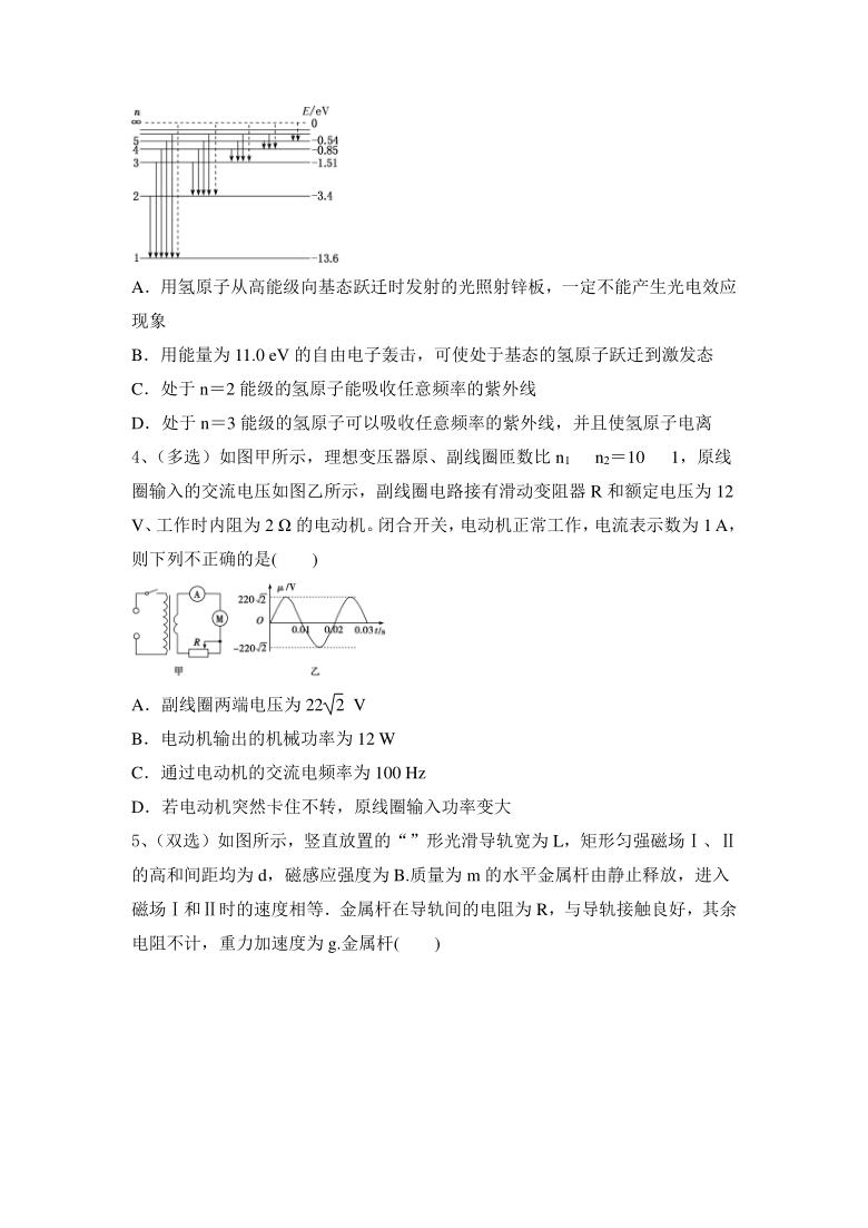 2021届高考物理二轮精选精炼;电路与电磁感应、近代物理Word含答案