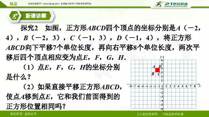 7.2.2用坐标表示平移 (课件)