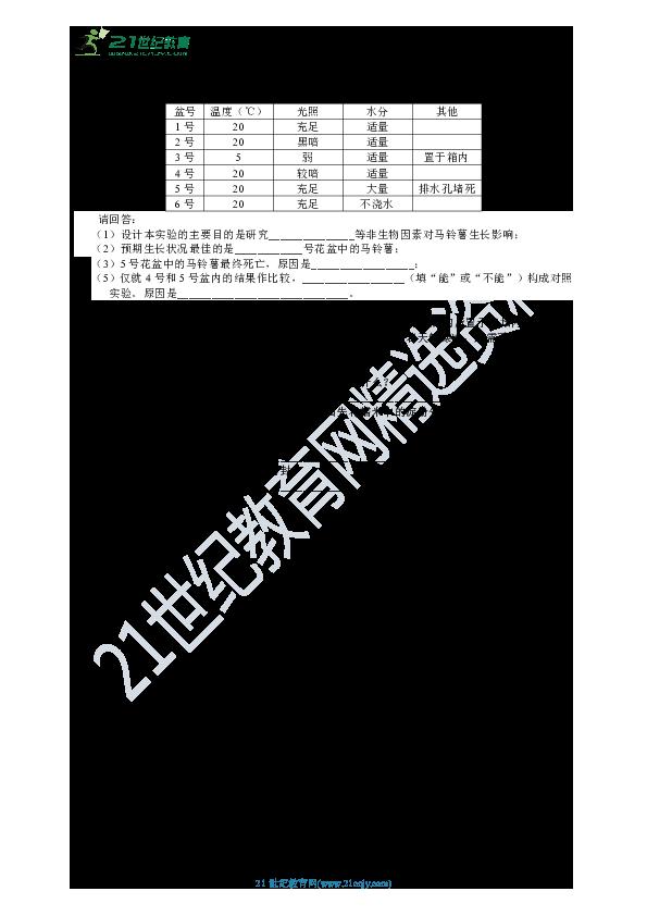 HS版七年级下册 第7章 植物和微生物的生殖与发育 单元测试卷(含解析)