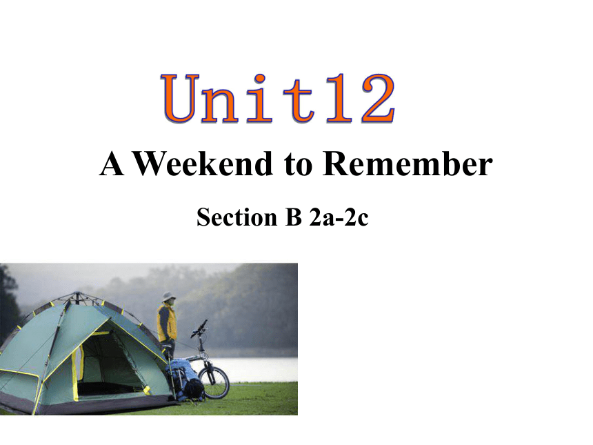 Unit 12 What did you do last weekend? Section B 2a-2c课件(共28张PPT)