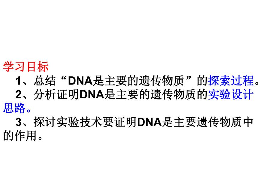 3.1-DNA是主要的遗传物质课件 2020-2021学年高一生物人教版必修2 课件(20张ppt)