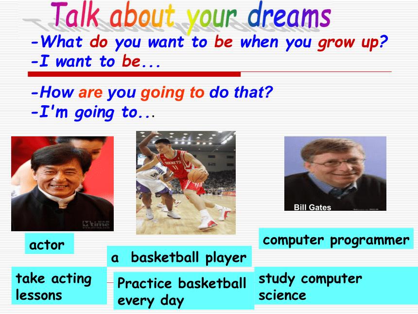 人教八上英语Unit 6 I'm going to study computer science sectionB(1a-1e)课件(24张ppt)