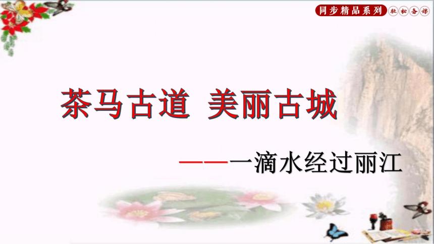 部编版八年级下册20一滴水经过丽江课件(67张PPT)