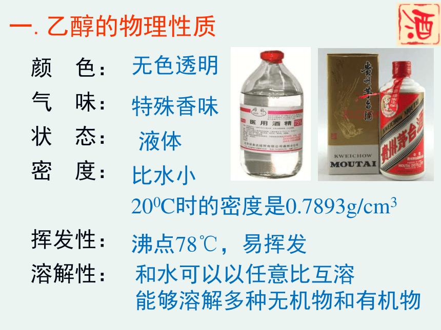 2020-2021学年高一化学3.3.1 乙醇精编课件(人教版必修二)(共28张ppt)